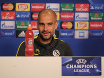 Josep Guardiola, manager of Manchester City Stock Photos
