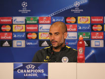 Josep Guardiola, manager of Manchester City Stock Photography