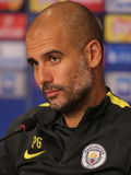 Josep Guardiola, manager of Manchester City Stock Image