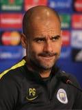 Josep Guardiola, manager van de Stad van Manchester royalty-vrije stock foto