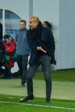JOSEP GUARDIOLA. Match between FC Shakhtar vs FC Bayern. Champions League Royalty Free Stock Images