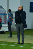 JOSEP GUARDIOLA. Match between FC Shakhtar vs FC Bayern. Champions League Stock Image