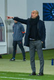 JOSEP GUARDIOLA. Match between FC Shakhtar vs FC Bayern. Champions League Royalty Free Stock Image