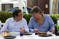 Josep Rull ι Andreu και Ferran Armengol (CiU) στοκ εικόνα