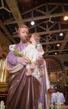 Joseph är ett diagram i evangelierna, maken av Mary, moder av Jesus och vördas Denna Saint Joseph är i StJoshepen Royaltyfria Foton