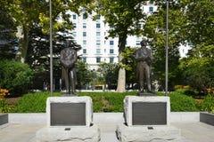 Joseph και αγάλματα Hyrum Smith Στοκ Φωτογραφία