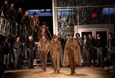 Joseph Abboud Mens Fall 2019 Fashion show as part of New York Fashion Week stock image