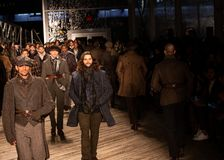Joseph Abboud Mens Fall 2019 Fashion show as part of New York Fashion Week stock photo