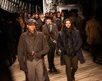 Joseph Abboud Mens Fall modeshow 2019 som delen av New York Fashion Week arkivbild