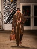 Joseph Abboud Mens Fall modeshow 2019 som delen av New York Fashion Week royaltyfri bild