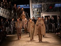 Joseph Abboud Mens Fall modeshow 2019 som delen av New York Fashion Week arkivfoto