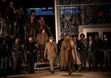 Joseph Abboud Mens Fall modeshow 2019 som delen av New York Fashion Week royaltyfria foton