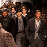 Joseph Abboud Mens Fall modeshow 2019 som delen av New York Fashion Week royaltyfria bilder