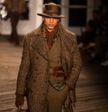 Joseph Abboud Mens Fall modeshow 2019 som delen av New York Fashion Week fotografering för bildbyråer