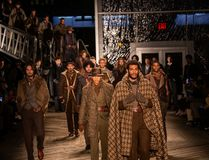 Joseph Abboud Mens Fall modeshow 2019 som delen av New York Fashion Week arkivfoton