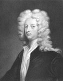 Joseph Addison. (1672-1719) on engraving from the 1800s. English essayist, poet and politician. Engraved by J. Thomson and published in London by Charles Knight Royalty Free Stock Images