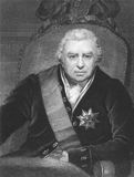 Joseph Banks. (1743-1820) on engraving from the 1800s. Naturalist and patron of science. Engraved by C.E. Wagstaff and published in London by Charles Knight Stock Image