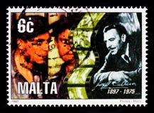 Joseph Calleia och filmrulle, 1st serieserie för årsdagar 1997, circa 1997 Royaltyfri Bild