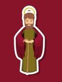 Joseph cartoon of holy night design Stock Image