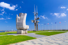 Joseph Conrad monument in Gdynia at Baltic Sea Stock Image
