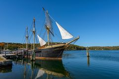 The Joseph Conrad at Mystic Seaport Royalty Free Stock Images