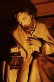 Joseph de madeira em uma cena da natividade Imagens de Stock Royalty Free
