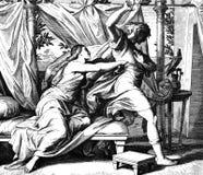 Joseph e esposa de Potiphars Fotografia de Stock Royalty Free