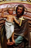 Joseph and Jesus baroque sculpture Royalty Free Stock Photography