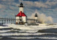 joseph latarni morskiej Michigan st usa zdjęcia stock