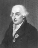 Joseph Louis Lagrange. (1736-1813) on engraving from the 1800s. Italian mathematician and astronomer Stock Image