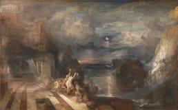 Joseph Mallord William Turner - ο χωρισμός του ήρωα και Leander στοκ φωτογραφία με δικαίωμα ελεύθερης χρήσης