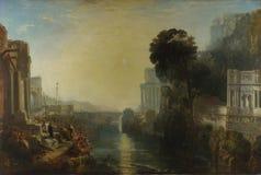 Joseph Mallord William Turner - Dido die Carthago bouwen stock foto's