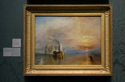 Joseph Mallord William Turner - national gallery, Londyn obrazy stock