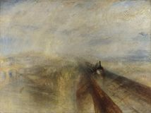 Joseph Mallord William Turner - Rain, Steam, and Speed - The Great Western Railway stock photo