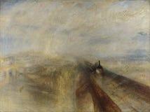 Joseph Mallord William Turner - Regen, Stoom, en Snelheid - de Grote Westelijke Spoorweg stock foto