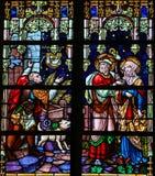 Joseph and Maria refused at a Bethlehem tavern at Christmas - St Royalty Free Stock Photo