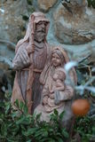 Joseph Mary and Jesus wood statue Royalty Free Stock Photos