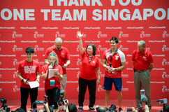 Free Joseph Schooling, The Singapore S First Olympic Gold Medalist, On His Victory Parade Around Singapore. 18th August 2016 Royalty Free Stock Photos - 75986288