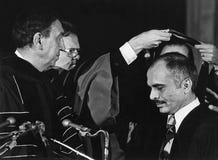 Joseph Sisco and King Hussein of Jordan Stock Photo