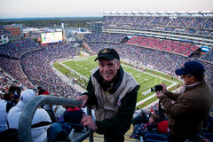 Joseph Sohm at Patriots game. Professional Photographer Joseph Sohm at Gillette Stadium, the home of Super Bowl champs. New England Patriots vs. the Dallas Royalty Free Stock Photos