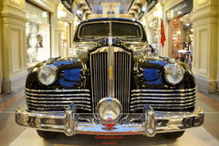 Joseph Stalin`s Armored Limousine ZIS-115 1949 – Front view. MOSCOW, RUSSIA - August 28, 2014 The front view of Joseph Stalin`s armored limousine ZIS-115 stock image