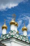 Joseph-Volokolamsk Monastery, fragment of assumption cathedral, Stock Images