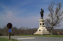 Joseph W Μνημείο Hawley στο εθνικό πεδίο μάχη Antietam Στοκ Εικόνες