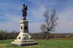 Joseph W Μνημείο Hawley στο εθνικό πεδίο μάχη Antietam Στοκ Φωτογραφίες