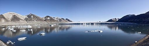 Josephbukta glacier panoramic Royalty Free Stock Images