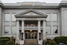 Josephine County Courthouse i lånpasserandet Oregon Arkivfoton