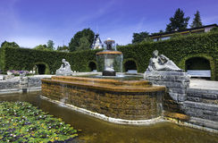 The Josephine Fountain in the Rose Garden Royalty Free Stock Images