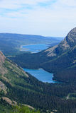 Josephine Lake  and Grinell Lake over look from  Grinnell Glacie Royalty Free Stock Photography