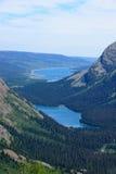 Josephine Lake und Grinell See über Blick von Grinnell Glacie Lizenzfreie Stockfotografie