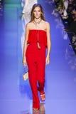 Josephine Le Tutour walks the runway during the Elie Saab show Stock Photos